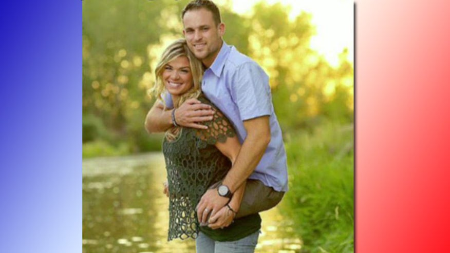 Kelly Cottle gives double leg amputee husband a piggyback ride