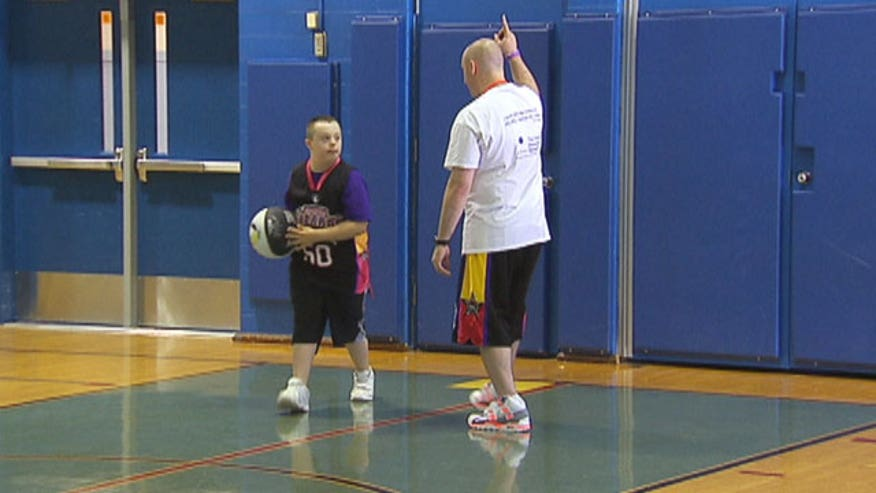 Children with special needs often aren't encouraged to participate in team sports for fear of injury or not understanding the game. One program is helping to 'Bounce Out the Stigma' and allow children to gain skills that they can use on and off the court