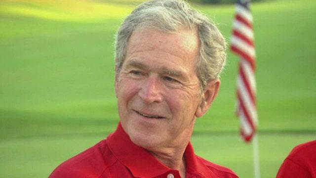 President George W. Bush talks health, veterans, Syria