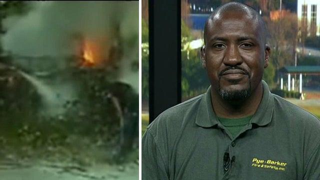 Fire technician helps save car crash victim