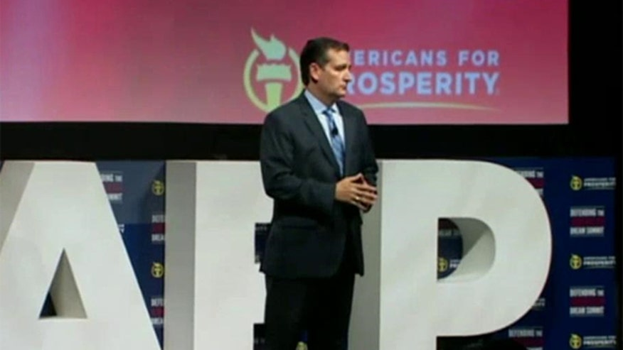 Ted Cruz speaks some choice words at the Defending the American Dream Summit