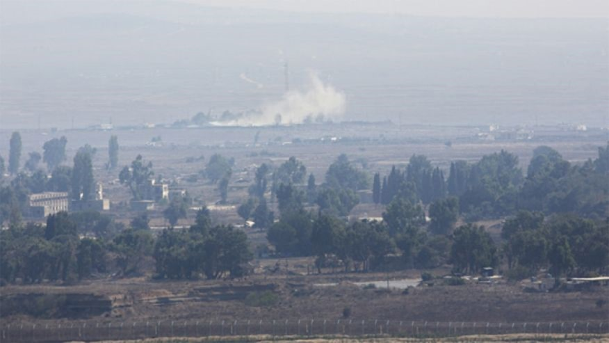 Heavy fighting begins in Golan Heights