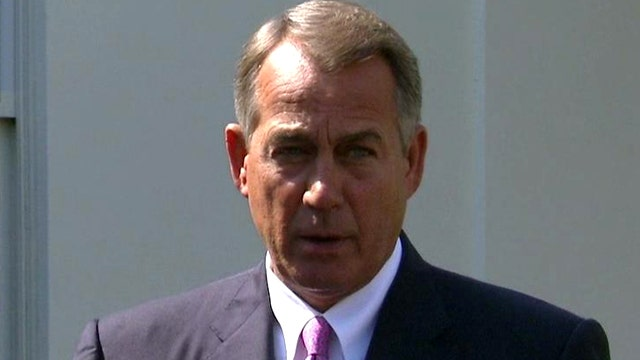 Boehner: Only US has capacity to stop Assad