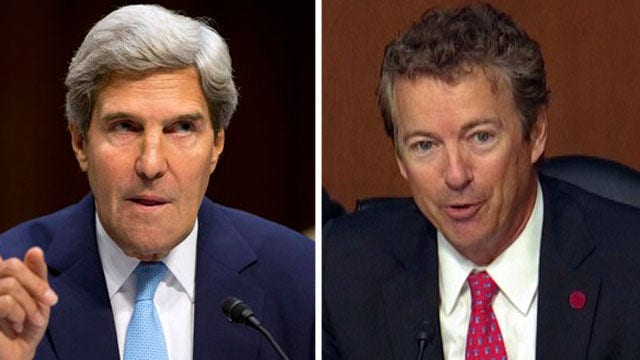 Sen. Paul spars with Kerry: Will vote on Syria be binding?