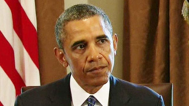 Obama makes statement to congressional leaders