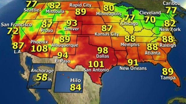 National forecast for Tuesday, September 3