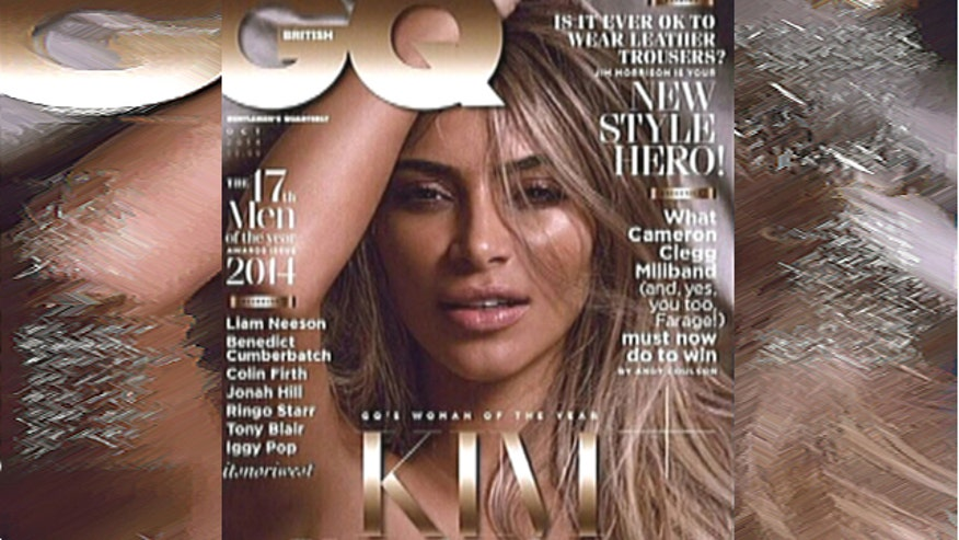 Kardashian poses nude, is named British GQ Woman of the Year