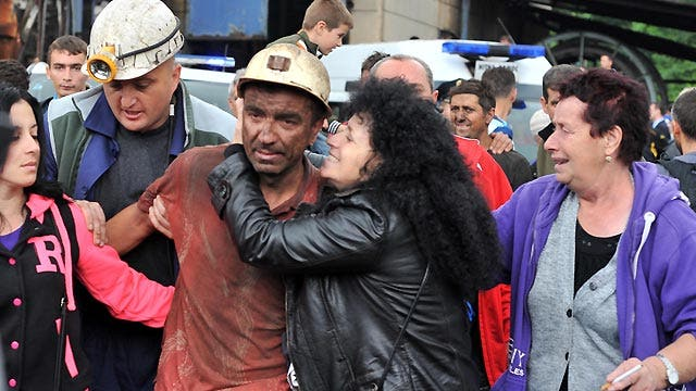 Miners rescued from Bosnian mine accident