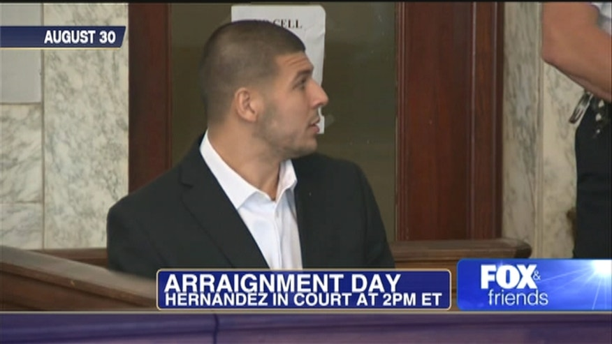 Aaron Hernandez is set to be arraigned on a first-degree murder charge following his indictment in the killing of a friend authorities say was shot five times in an industrial park.