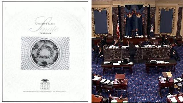 Senate's secret handbook revealed for first time