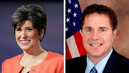 Republican Joni Ernst has pulled ahead of Democratic Rep. Bruce Braley in the Iowa Senate race, according to a new poll that points to a heated battle for votes in the final stretch.