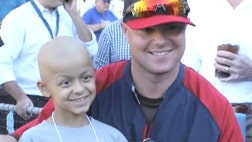 RED SOX PITCHER BEATS CANCER. GIVES BACK.