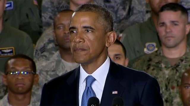 Obama visits US Central Command for ISIS briefing