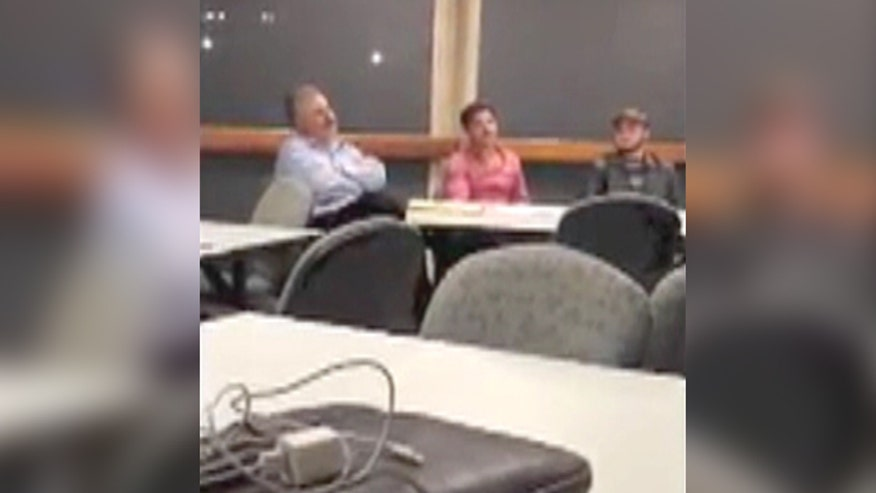Raw video: Temple University instructor hijacks 'right to work' forum