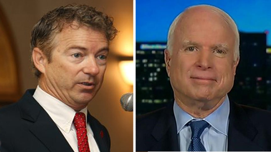 Senator John McCain on his disagreement with Senator Rand Paul on how to defeat ISIS