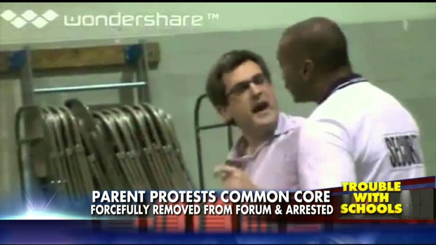 A father in Towson, Maryland, was forcefully ejected from his town hall forum for asking the wrong question.