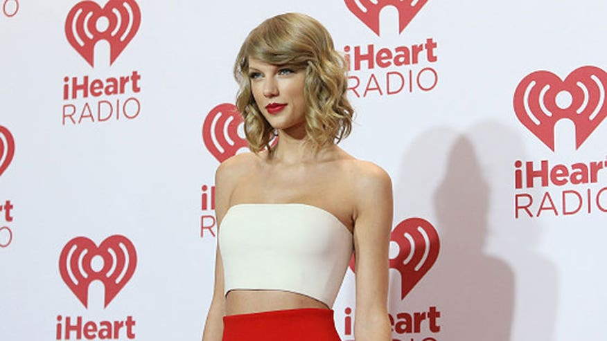 Taylor causes some double takes at the IHeart Radio festival
