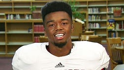 A running back for a Texas high school team has secured his place in the post-game interview Hall of Fame after delivering a motivational speech that would make even the most critical coach smile.