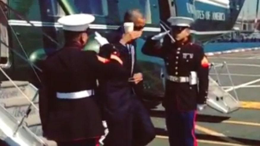 President's nonchalant salute draws ire