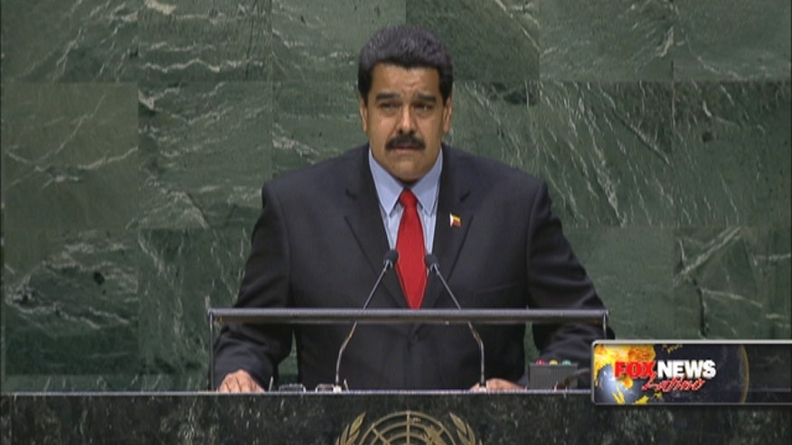 Venezuelan president Nicolás Maduroblasts U.S. during UN speech but stops short of name-calling.