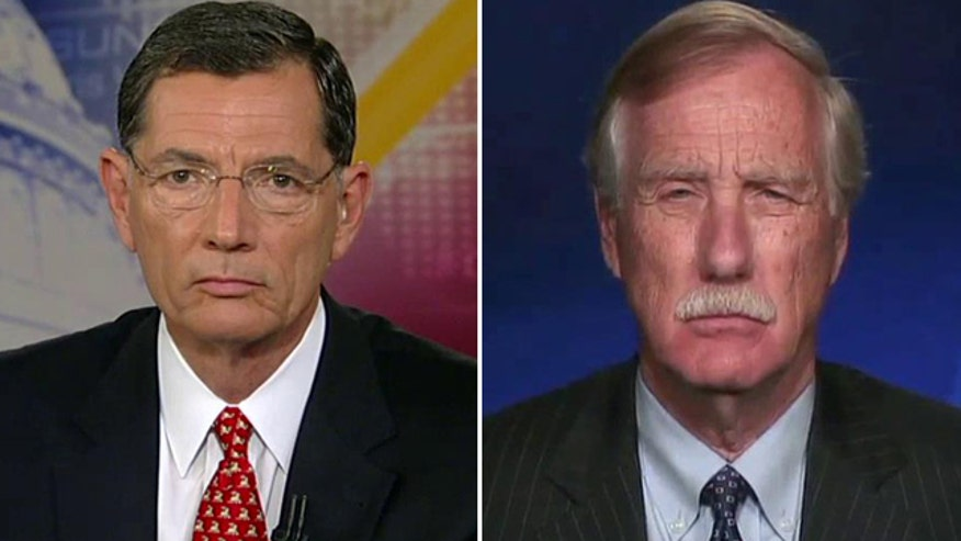 Reaction from Sens. John Barrasso and Angus King