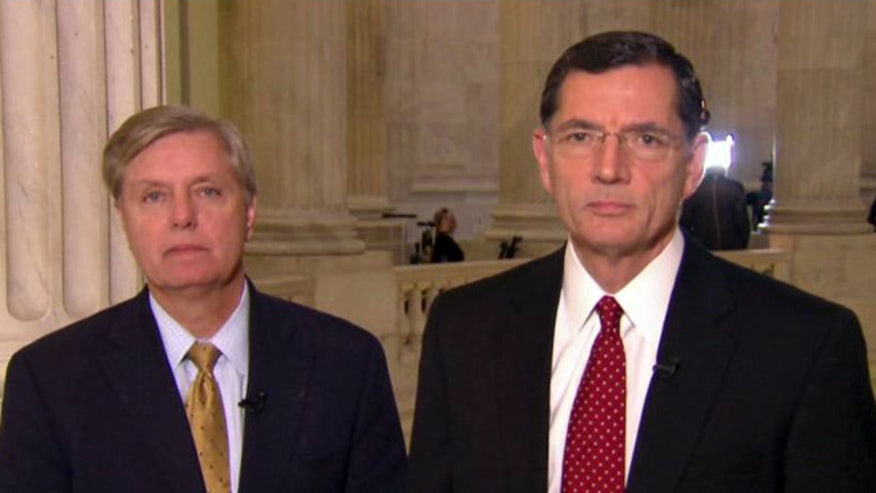 Sens. Graham, Barrasso react to the chaos on Capitol Hill