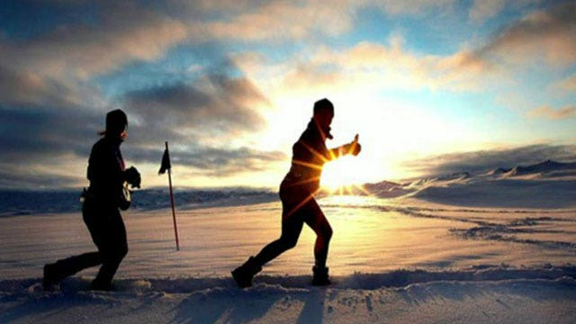 The coldest marathon on Earth