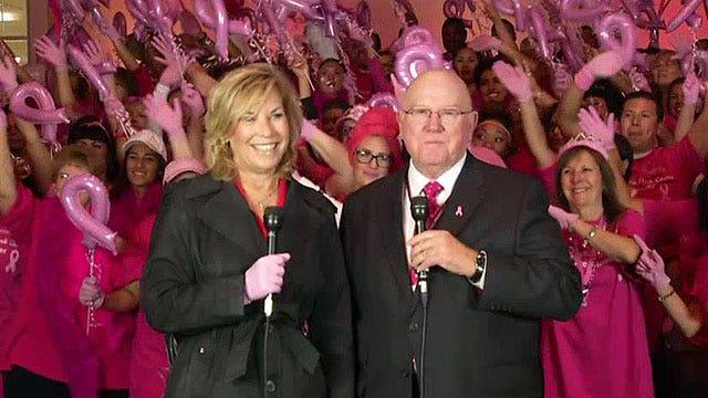 Pink glove dance contest raises breast cancer awareness