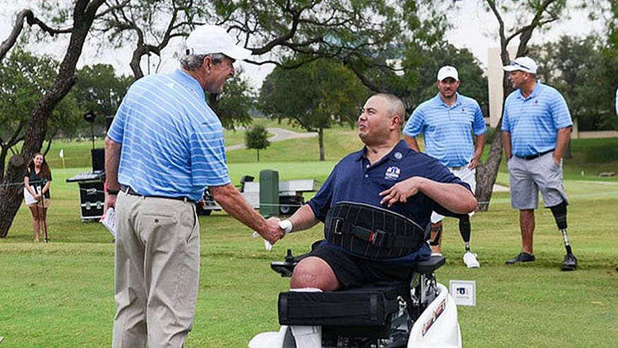 Former president touts George W. Bush Institute's Military Service Initiative