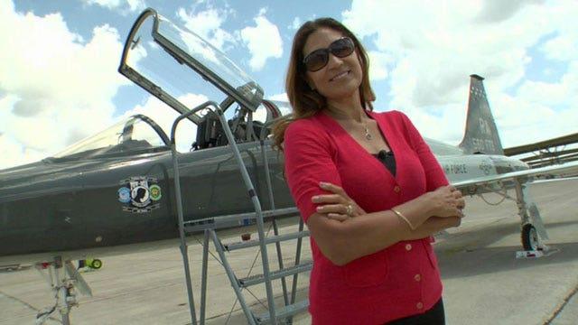 Olga Custodio soars for stars and stripes