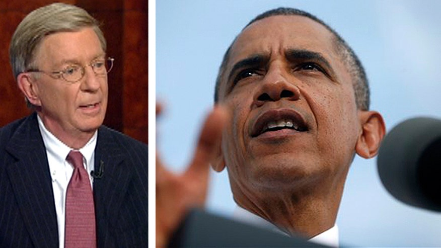 "Syndicated columnist George Will said Friday that the ongoing fight in Washington over the government shutdown, the Affordable Care Act (AKA ""Obamacare"") rollout glitches and the looming debt ceiling are all a part of a bigger and longer political game."
