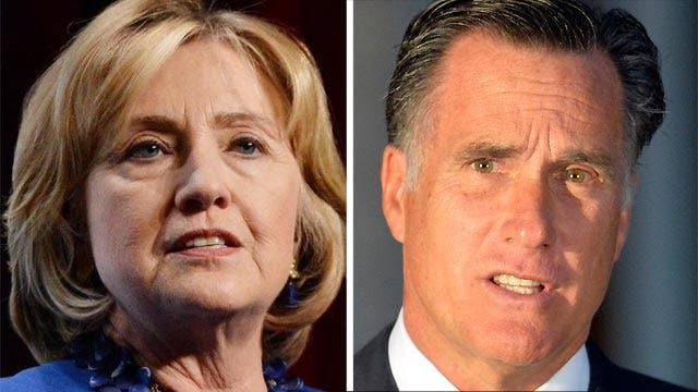 Clinton, Romney head to Iowa to campaign for Senate hopefuls