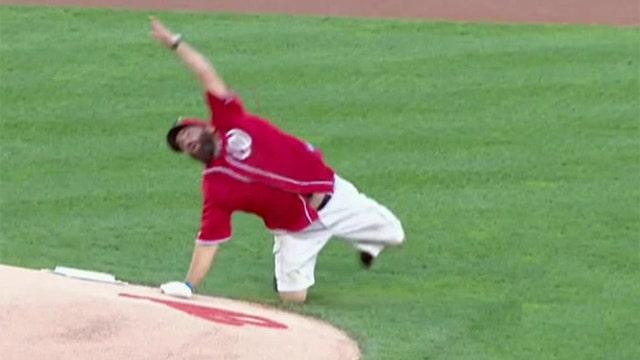 Monday Motivator: Vet grenade-tosses first pitch