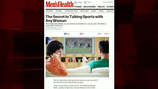 Magazine apologizes for 'talk about sports with women' piece