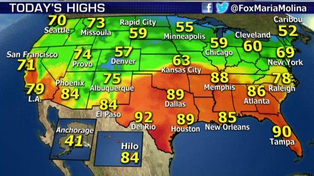 National forecast for Thursday, October 9