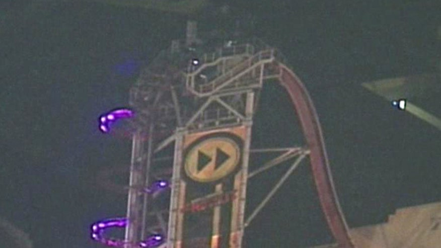 Passengers safely walk down ride after computer glitch forced rollercoaster into safety mode