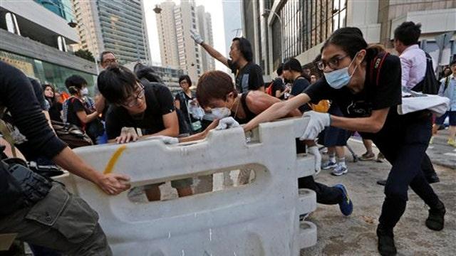 China blaming US for Hong Kong protests