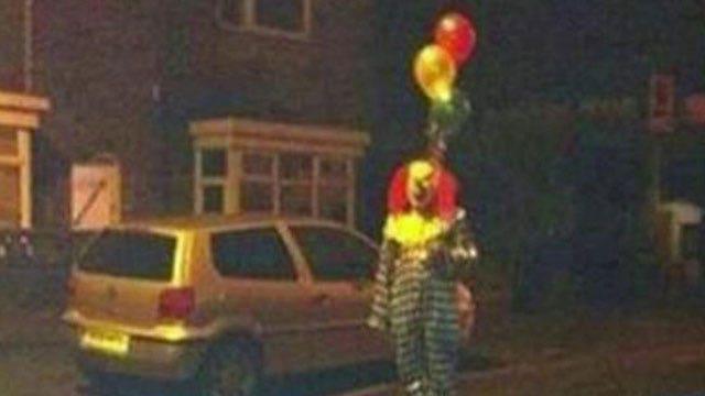 Menacing clowns roaming streets of California town