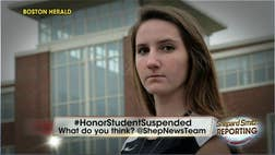 As the Massachusetts high school volleyball player suspended for coming to the aid of a boozed-up pal served out the final game of her punishment Friday, an e-mail penned by a police officer that appears to exonerate her has come to light.