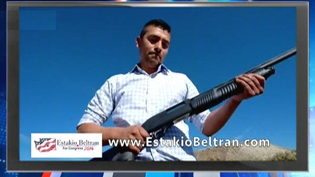 Guns remain central to many political campaign ads