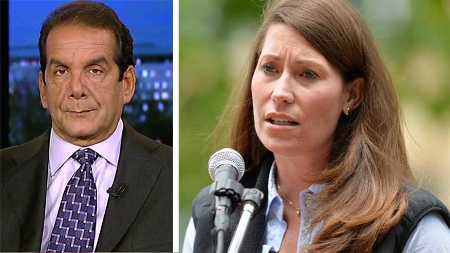 "Charles Krauthammer called Kentucky Senate candidate Alison Lundergan Grimes' refusal to say whether she voted for President Obama ""preposterous."""