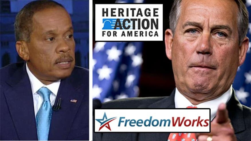 "Juan Williams told viewers Tuesday that the abrupt cancellation of a House vote on a new proposed budget plan signals a ""war within the Republican ranks."""