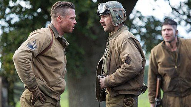 'Fury' cast opens up on red carpet