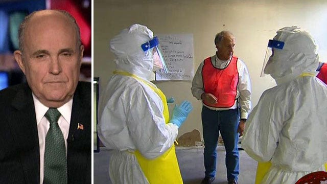 Rudy Giuliani talks Ebola response, Manuel Noriega lawsuit