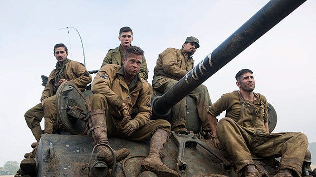 'Fury' stars grateful for working with WWII heroes