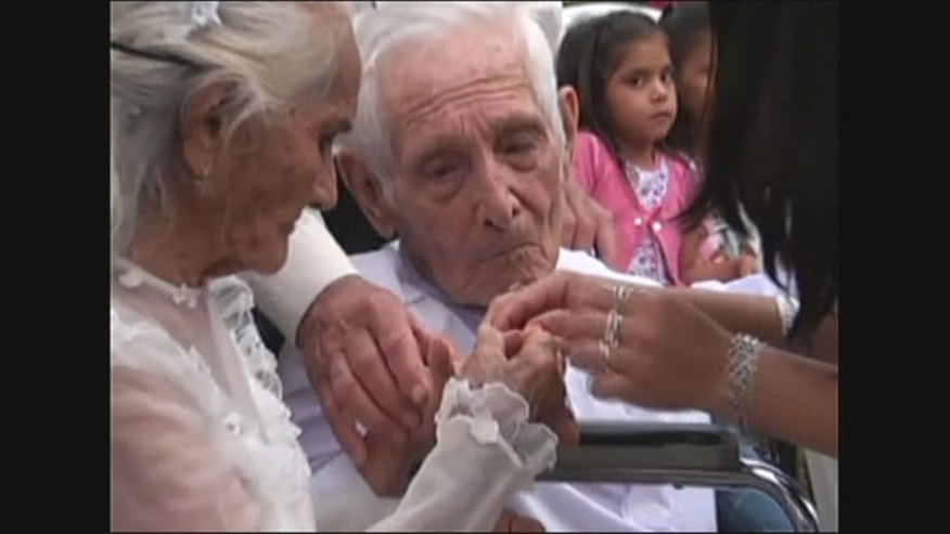 103-year-old man marries 99-year-old partner after 80 years cohabitation in Paraguay.