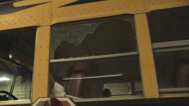School bus filled with students attacked with bat, mace