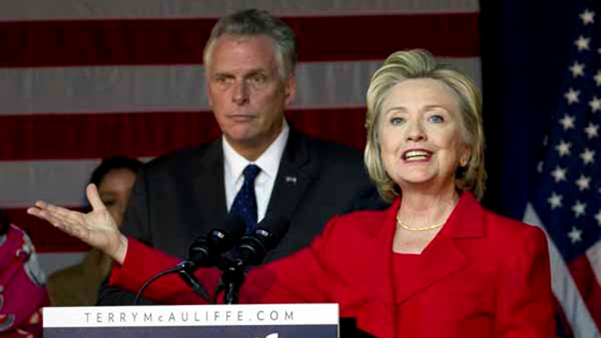 Hillary Clinton attended a rally to endorse Terry McAuliffe