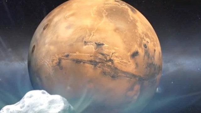 Comet flies within 87,000 miles of Mars