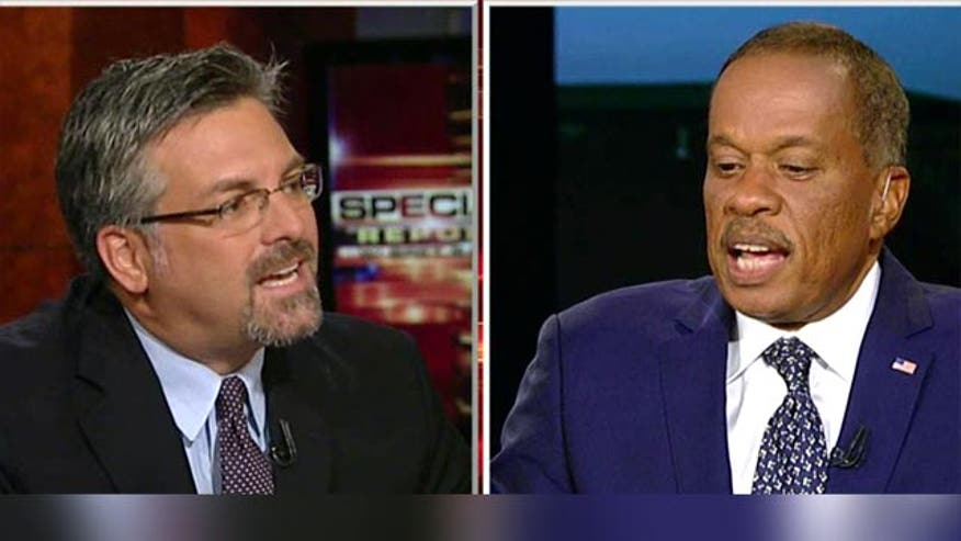 Fox News contributors Stephen Hayes and Juan Williams sparred Wednesday over whether the Obama administration deliberately forged ahead with the launch of a flawed healthcare website in an attempt to stave off further criticism.